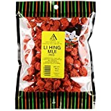 Red Li Hing Mui Plum - 10 ounce bag - Packed fresh in Hawaii - Dried asian plums make a perfect addition to lime, lemon, or orange - Plenty of fruit meat with little pit