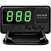Universal Car HUD GPS Speedometer with Head-up Display - Black