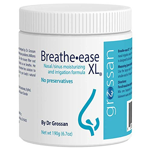 - Grossan Breathe-easeXL Nasal/Sinus Irrigation Salt Jar