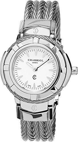 - Charriol Women's Celtic Swiss-Quartz Watch with Stainless-Steel Strap, Silver, 12 (Model: CE426S640005