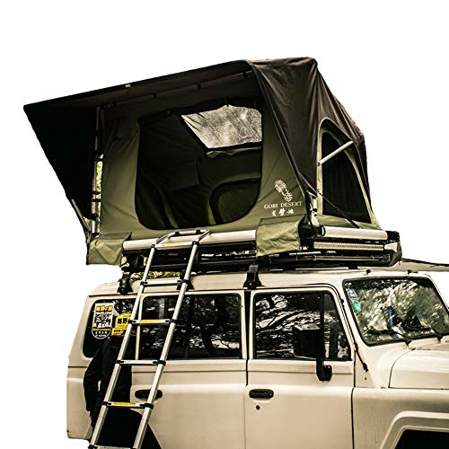 CARWORD Ranger Overland Rooftop Tent Waterproof Quick Open 2 Adult Carrying Case Easy to Set Camping and Travel