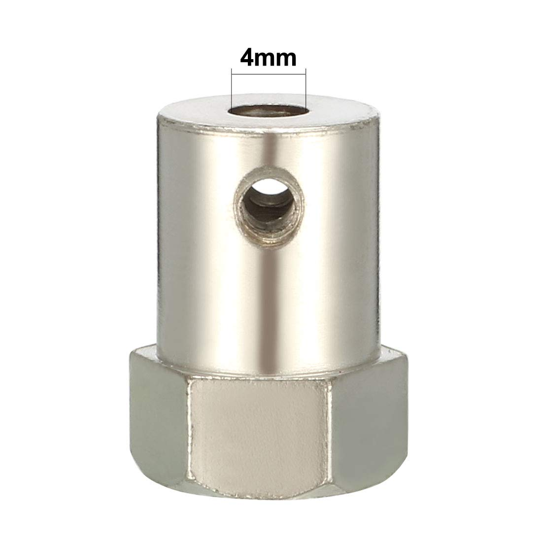 sourcing map Shaft Coupling 3.5mm Bore 18mm Long Hexagon Coupler Connector for Robot Motor Wheel w Screws