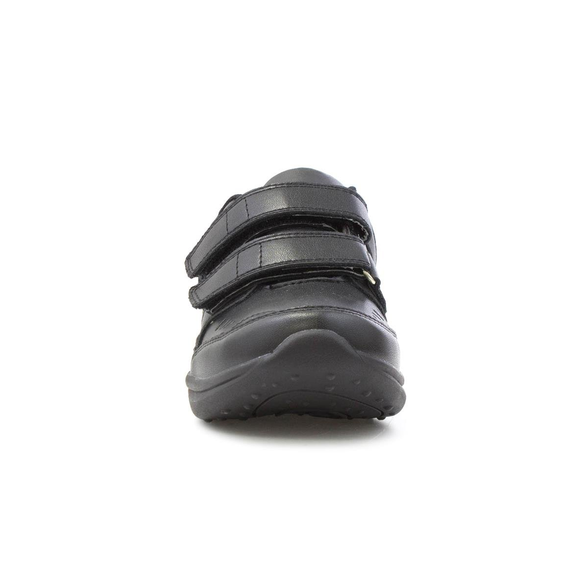 Beckett Boys Black Riptape Coated Leather Shoe Sizes 9,10,11,12,13,1,2,3,4,5,6