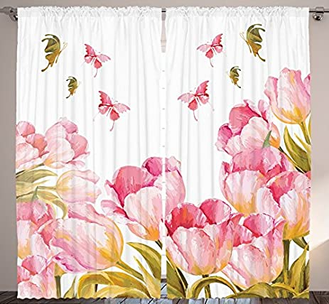 Mansion Magnolias Artsy Room Watercolor Decor Bedroom Living Room Floral  Decorations Home Fashion Classical Flower Butterfly
