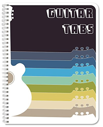 BookFactory Guitar Tablature Notebook/Guitar Music Tabs Journal - 120 Pages, Wire-O, 8 1/2 x 11