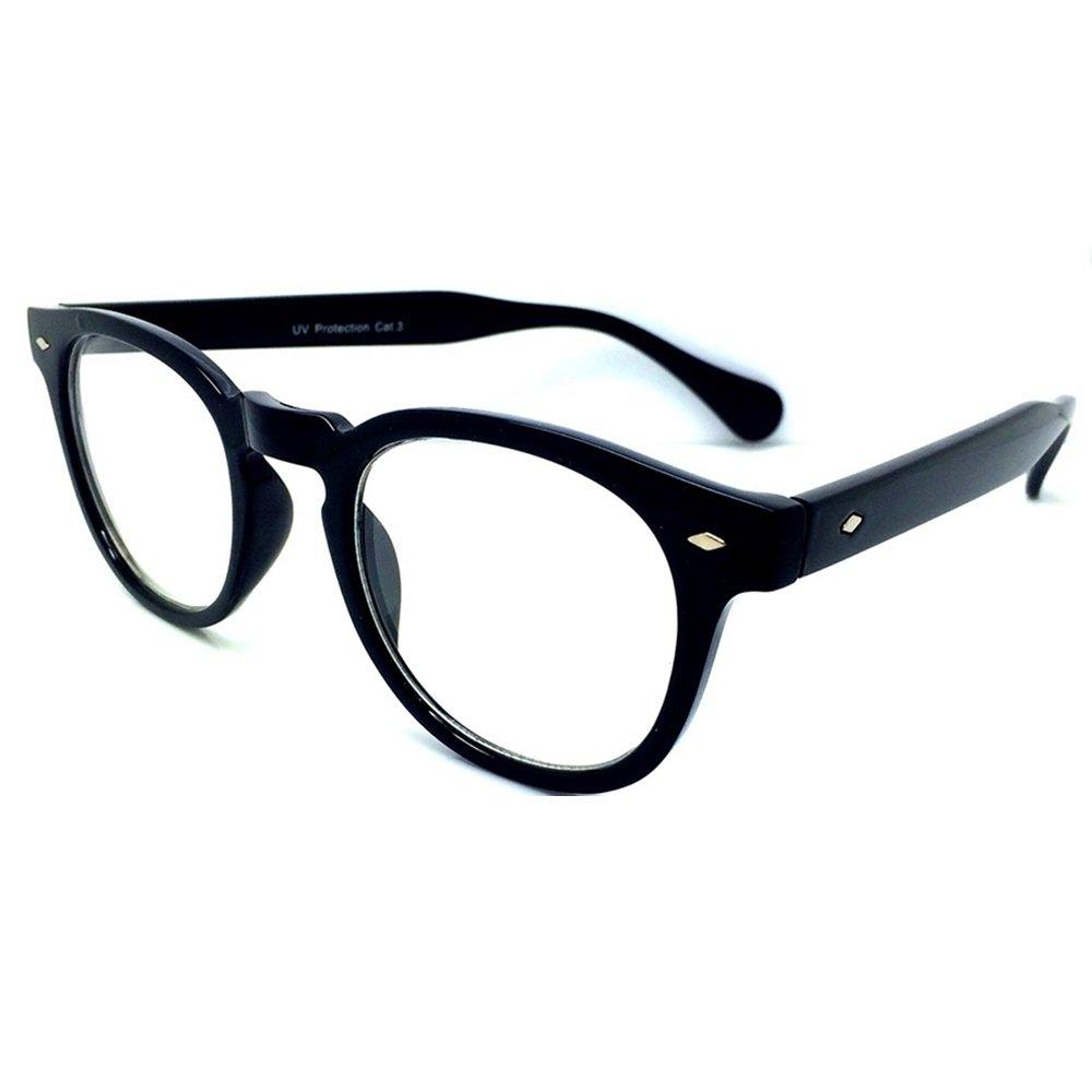 KISS Occhiali neutri stile MOSCOT mod. DEPP - montatura da vista VINTAGE Johnny Depp uomo donna CULT unisex PROD1009-HAV658