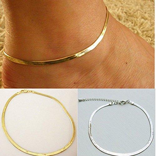 LanLan Adjustable Fashion Foot Beach Jewellery Herringbone Ankle Bracelet Chain Anklet ,Main - Anklet Herringbone