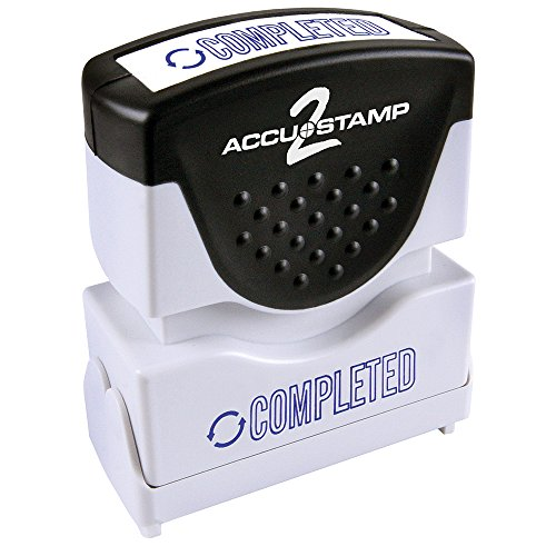 ACCU-STAMP2 Message Stamp with Shutter, 1-Color, COMPLETED, 1-5/8