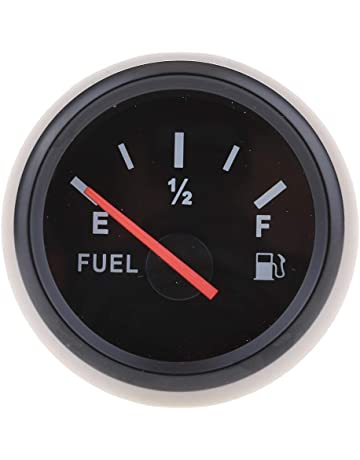 B Blesiya Medidor de Nivel de Gasolina de 52mm Accesorio de Modificacíon Facíl Instalar - Negro