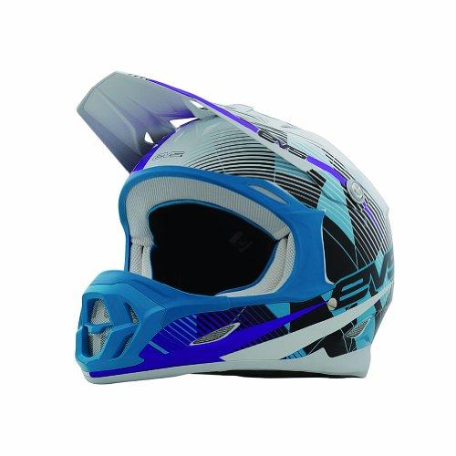 EVS Sports Vortek T7 Helmet with Crossfade Graphic (Purple, X-Small)
