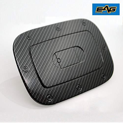 (EAG 11-16 Jeep Grand Cherokee Fuel Gas Door Cover Black Carbon Fiber Look ABS)