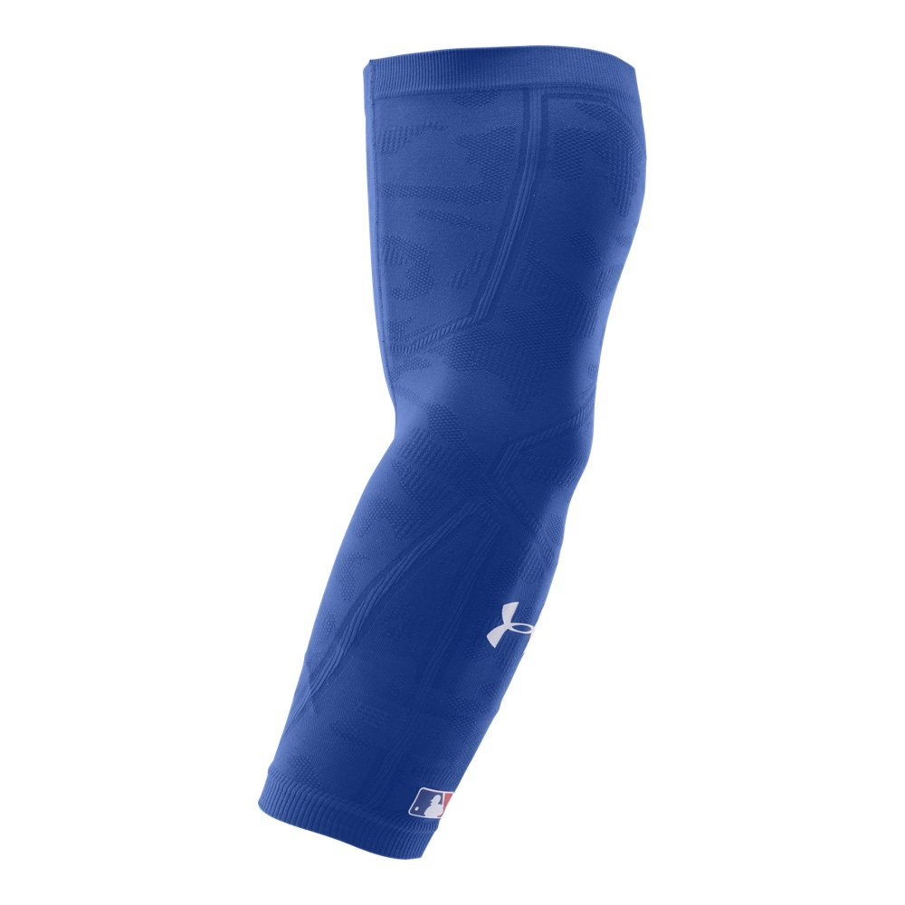 Under Armour Mens Knit Baseball Arm Sleeve, Royal/Royal, Large/X-Large