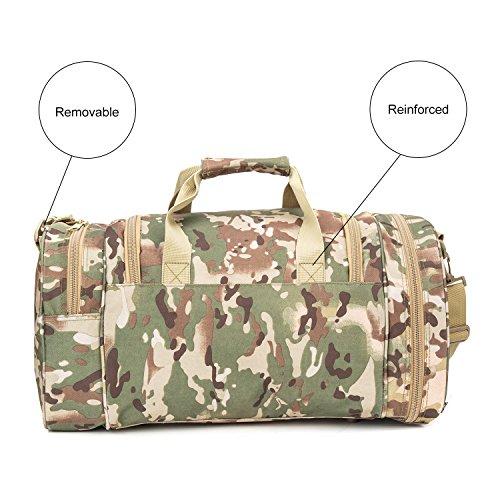 WolfWarriorX Military Tactical Duffle Bag, Large Storage Bag Luggage Duffle for Traveling, Gym, Vacation, Hiking & Trekking (OCP) by WolfWarriorX (Image #2)