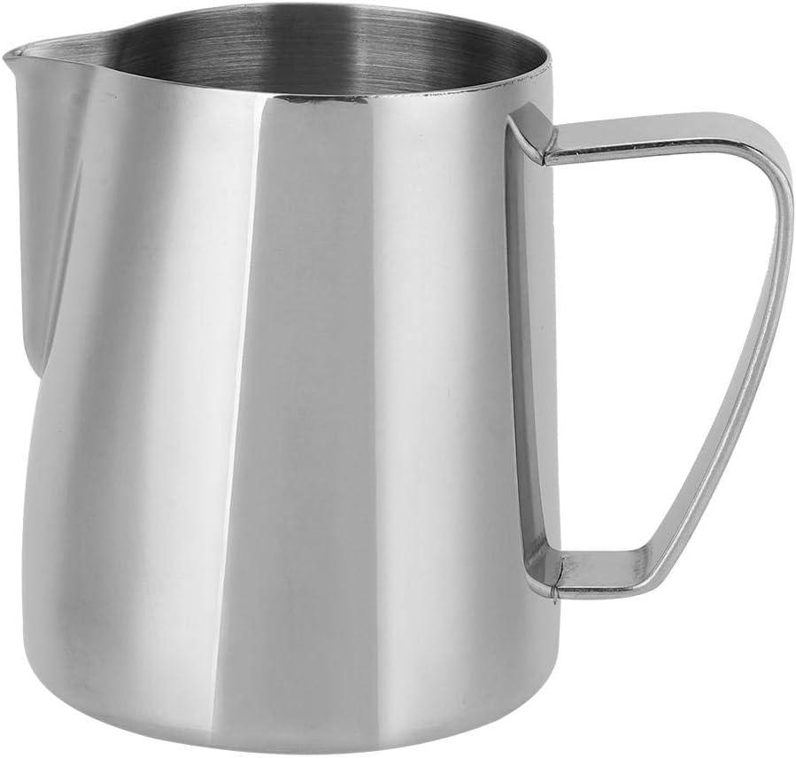 Taza de espuma espuma de acero inoxidable Taza de caf/é Jarra de leche Jarra de espuma de leche para Latte Art 600ml