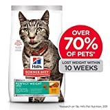 Hill's Science Diet Adult Perfect Weight Chicken Recipe Dry Cat Food for Healthy Weight and Weight Management, 7 lb Bag
