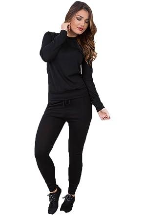 Unogal Clothing mujeres mezcla De vestir De ocio Set-Sudadera De ...