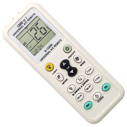 Coyaho Universal Air Conditioner Remote Control for Daikin, Hitachi, Carrier, Panasonic, LG, Sharp, Haier, Gree, Midea, Whirlpool, Bosch, Olympus, Toshiba, Samsung and 1000 more brands (Universal Control Lcd Remote)
