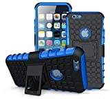 SS Tech Apple iPhone 6/6S Blue Case [Kickstand Feature] [Tyre Design] Shockproof light weight Tough Armour Case with 2 in 1 Hybrid Dual Layer Protection Cover with Kickstand [Good Grip] Shock Drop Bumper Impact Resistant case cover Compatible With Apple iPhone 6 / 6s