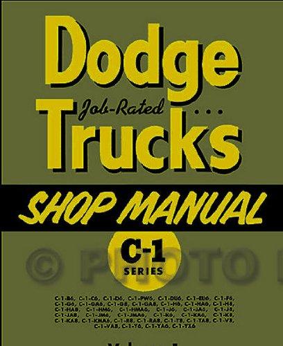 1954-1955 Dodge C-1 Truck Repair Shop Manual Reprint 2 Volume Set