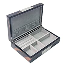Signstek 25x16x6cm Wooden Organizer Box Storage Case for Sunglasses Jewelry Watches Coins