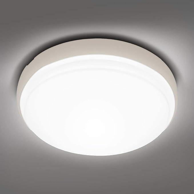Cuisine /Ø30*5cm Pour Salon Chambre Entr/ée Plafonnier LED 24W Ketom Lampes de Plafond Blanc Chaud 3000K 2400LM Moderne Luminaire Plafonnier Rond Int/érieur Lampe Plafond Couloir