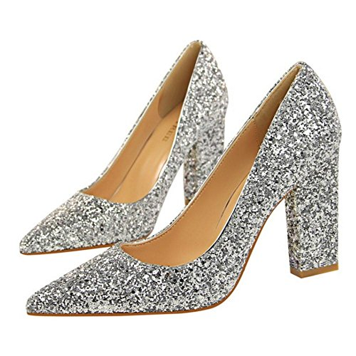 Talons VulusValas Silver Mode Mariage Femmes Chaussures OOIqHTxBwa