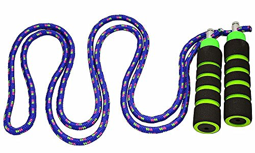 Annas Rainbow Rope Kids Jump Rope Durable Child Friendly Skipping Rope - Exercise Toy for Playground with Lightweight Foam Handles and Vibrant Colors