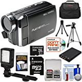 Bell & Howell DV30HD 1080p HD Video Camera Camcorder (Black) 32GB Card + Battery + Case + Tripods + LED Video Light + Kit