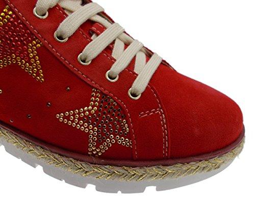 C3786 red Women's Shoe Star Orthopedic Orthopedic Pull-Out sneacker 35 0S8Brc