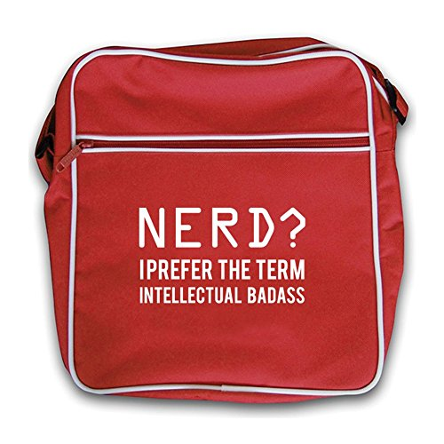 Nerd Intellectual Red Retro Flight Term Bag Baddass Red I Prefer The r4wnSfrTq