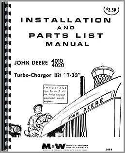 john deere 4020 tractor turbo kit operators \u0026 parts manual amazon John Deere 4020 Clutch Diagram john deere 4020 tractor turbo kit operators \u0026 parts manual plastic comb