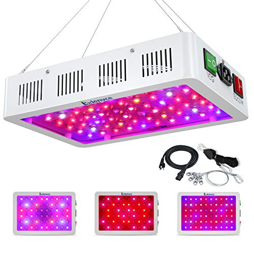 Exlenvce 1500W 1200W 600W LED Grow Light Full Spectrum for Indoor Plants Veg and Flower,led Plant Growing Light Fixtures with Daisy Chain Function (Triple-Chips 15W LED) …