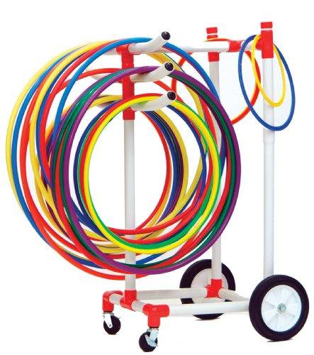 Champion Sports Heavy-Duty Plastic Hoop Cart For Sale