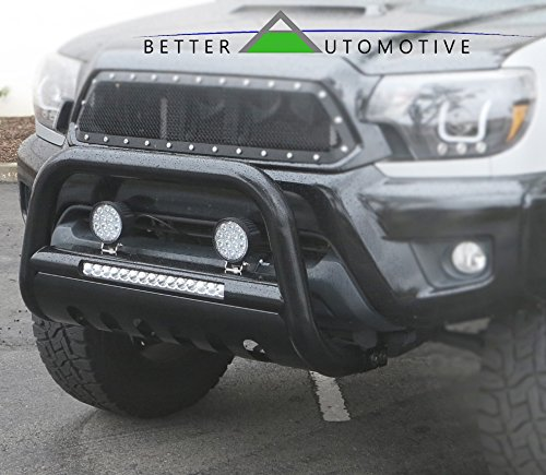 BETTER AUTOMOTIVE LED Bull Bar Fit 2016-2020 Toyota Tacoma Pickup Truck 3″ Black LED Bull BAR Brush Guard