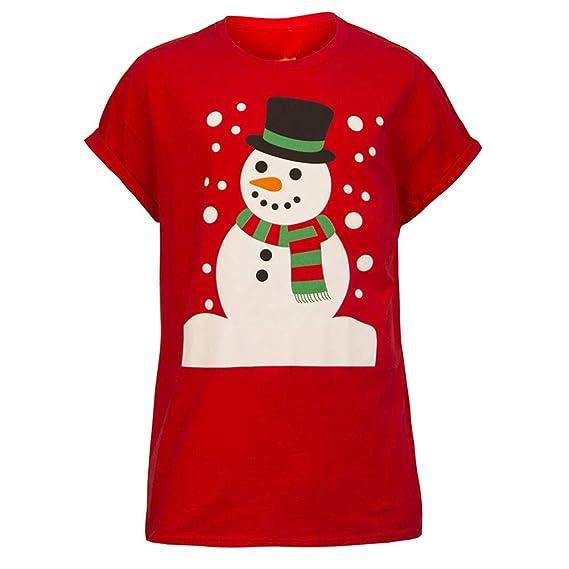 Ropa Camisetas Mujer, Impresión Unisex Navideña Blusa para Mujer Camisetas Mujer Camisas Mujer Tops Tallas Grandes Mujer: Amazon.es: Ropa y accesorios