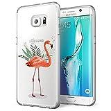 Alsoar Funda Samsung Galaxy S6 Case Ultrafino diseño de Dibujos Lindo TPU Parachoques Anti-Arañazos Anti-Huella Dactilar a Prueba de Choque Case Protectora para Jugando al fútbol Perro (Bird)