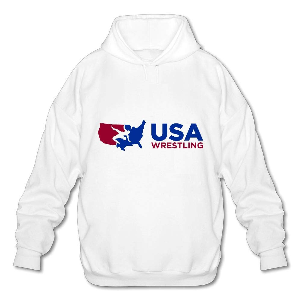 OPQRSTQ-O USA Wrestling Mens Funny Hooded Sweatshirt Hoody