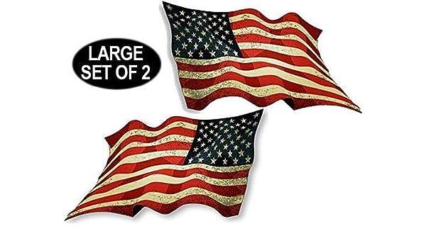 REVERSE American Flag LARGE Bumper Sticker