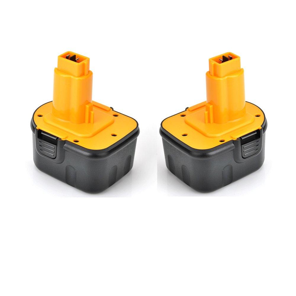 Masione de 2 2000mAh ® 12 V 2,0 Ah NI-CD de rechange pour outillage électroportatif/perceuse Codeless Batterie pour DeWalt DC9071 DE9037 DE9071///DE9094/DE9074, DE9075 DW9071 DW9072 152250–27 397745–01/