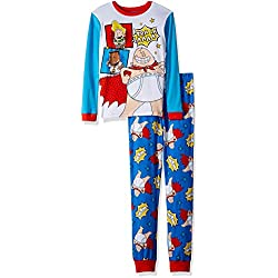 Captain Underpants Big Boys' 2-Piece Cotton Pajama Set, True Blue, 8