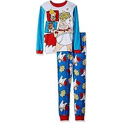 Captain Underpants Big Boys' 2-Piece Cotton Pajama Set, True Blue, 8