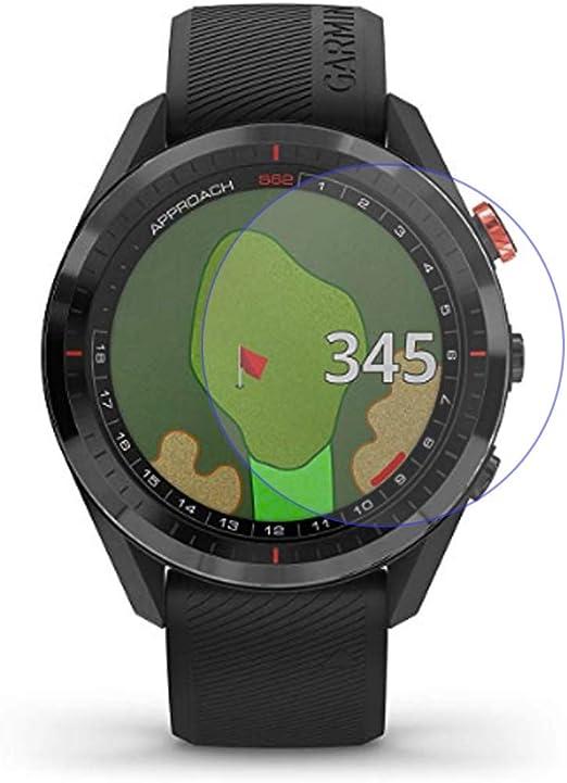 LOKEKE Protector de pantalla de cristal templado premium para Garmin Approach S62, fabricado en cristal real