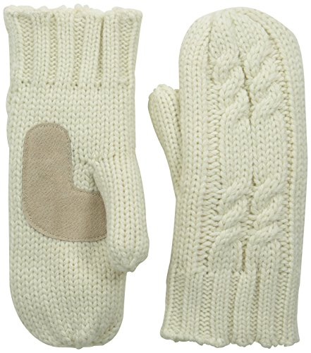 (isotoner Women's Chunky Cable Knit Cold Weather Mittens with Warm, Soft Lining)