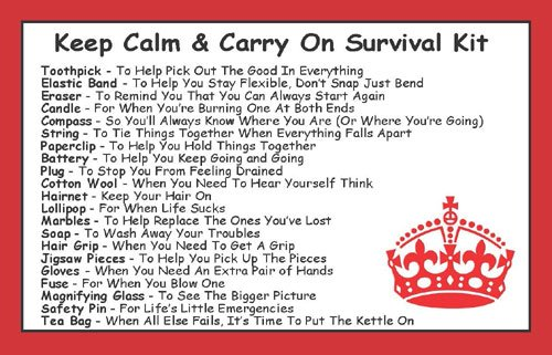 Keep Calm & Carry On Survival Kit In A Can. Humorous ...