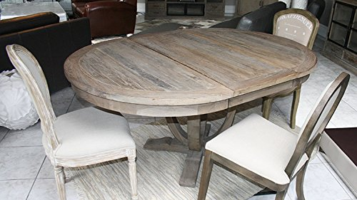 Table salle a manger bois ronde - Table ronde pied central avec rallonge ...