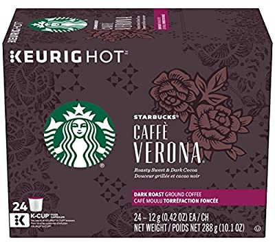 Starbucks Caffè Verona Dark Roast Single Cup Coffee for Keurig Brewers, 1 Box of 24 (24 Total K-Cup pods)