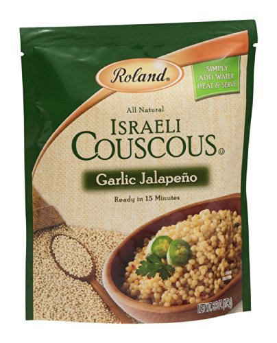 Roland Israeli Couscous Garlic Jalapeno 6.3 OZ (Pack of 12) by Roland