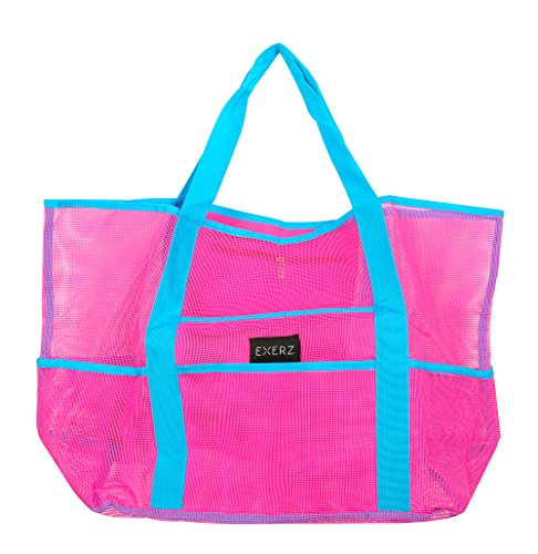 Exerz Getaways Extra Heavy Clothes EX Family Tote Holiday Duty play For Practical Pink Bag Sunscreen All Pool Toys Functional And Beach Fun BB53 Multi children XL Summer For Mesh Bag Carry rrPn74R