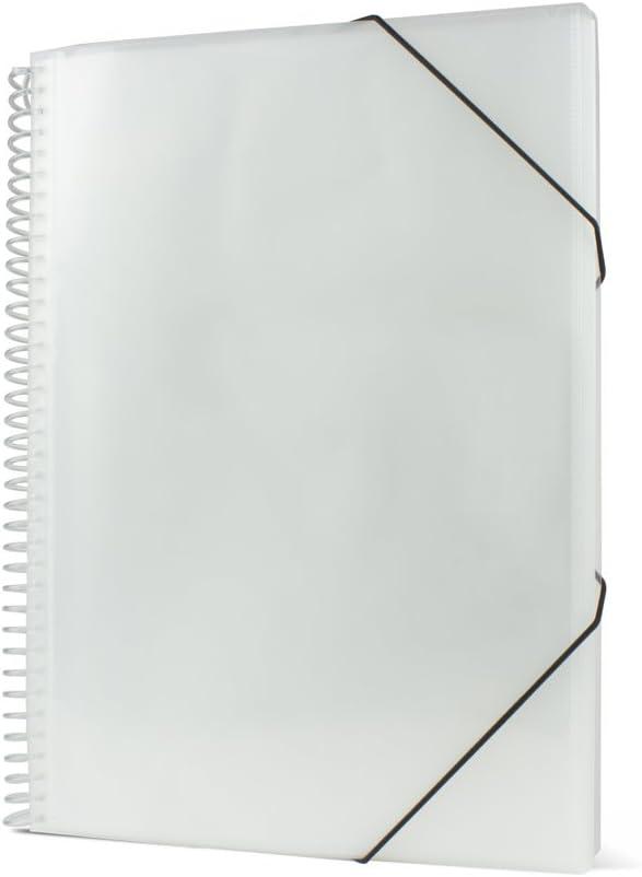 Pryse 4240051 - Carpeta espiral con 50 fundas, A4, transparente