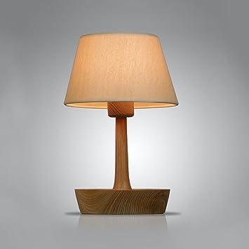 WSHFOR Lámpara de mesa de diseño creativo europea de madera ...